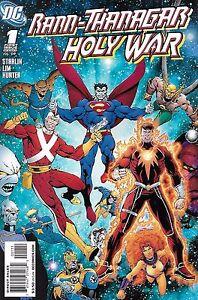 Rann Thanagar Holy War Comic 1 Cover A Jim Starlin First Print 2008 Lim Hunter