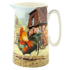 Cockerel & Hen Design Fine China Milk Jug Tea Coffee Leonardo Farm LP92419