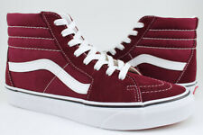 Vans Sk8-Hi - Port Royale -Burgundy Maroon Red -High -Suede & Canvas -Men/Women