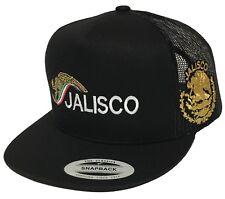 JALISCO MEXICO LOGO FEDERAL HAT 2 LOGOS NEW LOGO BLACK MESH TRUCKER SNAPBACK