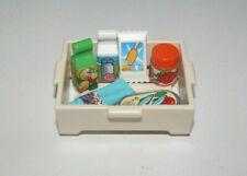 Playmobil Lot Caisse + 6 Accessoire Cuisine Nourriture Foods NEW