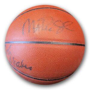Magic Johnson Scott Wilkes Multi Autograph Basketball Lakers 6 Sigs JSA DD60674