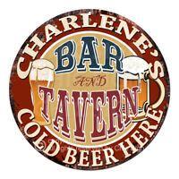 CWBT0220 CHARLENE'S BAR N TAVERN Sign Mother's Day Christmas Gift For Woman