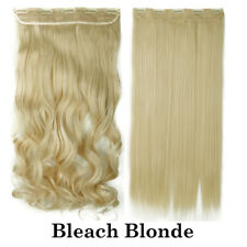 New Thick One PC 3/4 Full Head Clip In Hair Extensions Straight Curly Wavy ACT