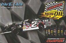 2016 Dave Cain Champion Oil PRI Show Promo Dirt Modified postcard