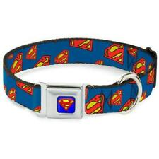 Buckle Down Superman Dog Collar Neck Size Medium 11-17 Inches New with Tags Nwt