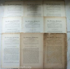 Cugnoni Castagnola LA SCUOLA ROMANA Foglio Periodico di Letteratura e Arte 1882