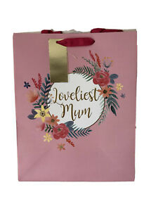 Large Loveliest Mum Mother`s Day Gift Bag Tagged