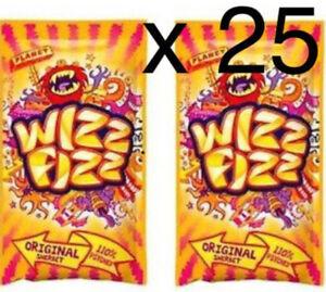 Wizz Fizz Original Sherbet Sachets - 25 x 12.5g | Bulk Candy Lollies | Sherbert