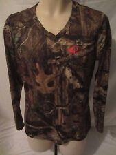 Mossy Oak Break-Up Infinity Camouflage Camo Blouse Shirt Women's Large - CC129
