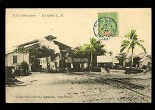 South Africa Madagascar TAMATAVE Railway Station train + loco used c1910s PPC