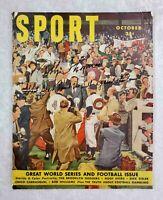 Bobby Thomson Autographed Signed Vintage 1950 Sport Baseball Magazine NY Giants