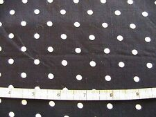 NAVY with WHITE POLKA DOTS~suiting~dress~blouse cotton-poly blend sew fabric~4Yd