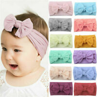 Hair Band Turban Baby Headband Toddler Headwear Accessories Solid Bow Girls