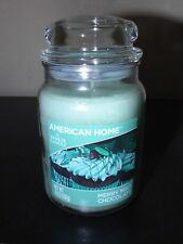 YANKEE CANDLE MERRY MINT CHOCOLATE  American Home LARGE Glass Jar