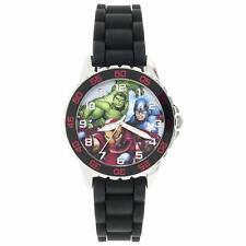 Disney Avengers Boy's 'Avengers' Quartz Plastic and Silicone Casual Watch, Color