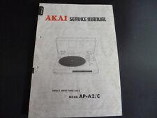 ORIGINALI service manual AKAI ap-a2/c