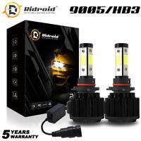 4-Side 9005 9145 LED Headlight Kits High Power Bulbs White 6000K 120W 32000LM