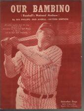 Our Bambino 1948 Babe Ruth