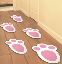 15 Easter Bunny Foot Print Kid Easter Party Home Decoration Garden Egg Hunt Game