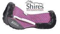 "Shires Performance Suede Half Pad Fleece Lined Pony/Cob 15"" to 16.5"" Plum"