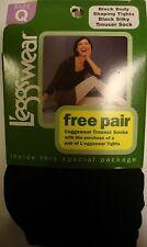 Leggswear BLACK Body Shaping Tights & BLACK Trouser Socks - Size Q - NIP