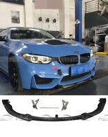 For BMW CS Style Carbon Fiber Auto Front Bumper Front Lip Fit F80 M3 F82 M4 14+
