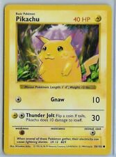 Pokemon - Pikachu (Yellow Cheeks) - Base Set Shadowless 58/102 - Common - EX