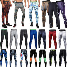 Mens Gym Sport Tight Compression Thermal Base Layer Pants Long Leggings Trousers