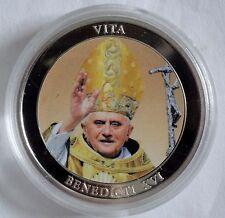 Vaticanus / Vatikan - Benedikt XVI. - Farb-Medaille - mit Kapsel - PP