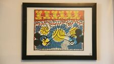 Keith Haring Untitled 1983 Print with Custom Frame