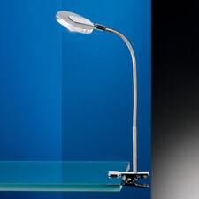 LED Klemmleuchte nickelmatt chrom Flexarm Schreibtischlampe Leselampe modern