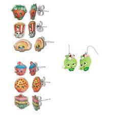 Shopkins Earrings Strawberry Kiss , Poppy Corn , Rainbow Bite + More!
