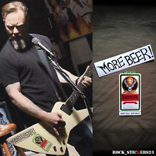 James Hetfield More beer stickers Jagermeister decal Gibson explorer Metallica