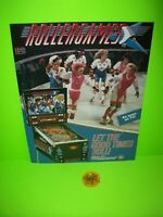 Rollergames Pinball FLYER + Plastic Promo KEYCHAIN Williams Original Set Of 2