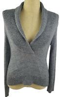 J. Crew Gray Alpaca Blend V-Neck Long Sleeve Womens Sweater Medium