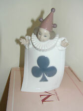 NAO BY LLADRO ACE OF CLUBS FROM PACK OF CARDS SET BOXED FIGURE #1282 LOVELY