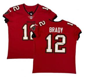 "TOM BRADY Autographed ""SB LV Champs"" Red Buccaneers Nike Elite Jersey FANATICS"