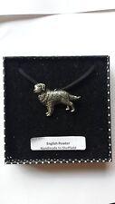 D4 Golden Retriever Motif Pewter  PENDENT ON A  BLACK CORD  Necklace Handmade