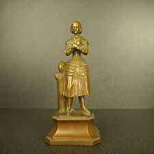 Jeanne d'Arc sculpture en bronze Sainte catholique H:15 cm Joan of holy Catholic