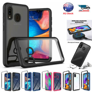 For Samsung Galaxy A21s A71 A11 A20 A30 A50 Hard PC Clear Case Shockproof Cover
