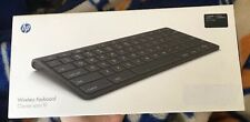 HP Wireless Keyboard NEW TouchPad Ultra-slim Bluetooth SEALED IOB OEM Touch Pad