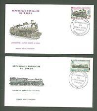 JAR Y35 Congo 1970 4 FDC Railroad Locomotive