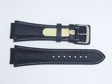 """DI-Modell (Germany) Genuine Calfskin 20 mm BLACK Leather Watch Band """"Pilot"""""""