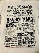Red Hot Chili Peppers Bruno Mars rare shirt Flea & Anthony Silverlake S