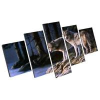 "MODERN ABSTRACT WALL DECOR ART PAINTING ON CANVAS ""no frame"" Wolf Couples S"
