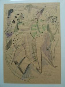 Fritz Huhnen 1895-1981 Karneval - Tanz - Party - Aquarell