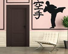 Karate Wu-Shu Eastern Martial Arts Decor Wall MURAL Vinyl Art Sticker z808