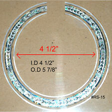 RS15# Rosette Inlay Paua Abalone & White Mother of Pearl 1.5mm thickness