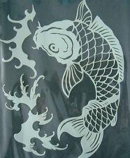 koifish mylar reusable stencil 10 mils  for Airbrush design art & craft